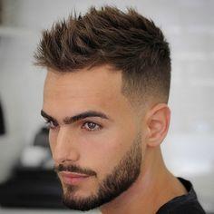 strukturierte Spitzen + niedrig verblassen | 15 Frische Männer Kurze Haarschnitte | Frisur