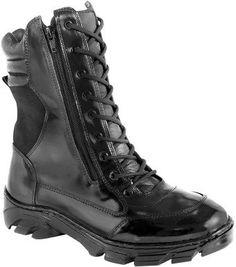 coturno feminino militar com ziper