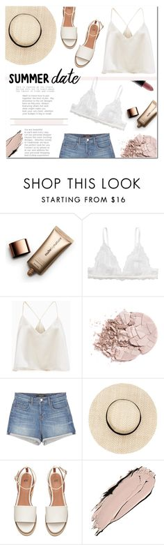 """""""Summer Date: Rooftop Bar"""" by emma-avigdor ❤ liked on Polyvore featuring Nude by Nature, Monki, J Brand, MAC Cosmetics, summerdate and rooftopbar"""