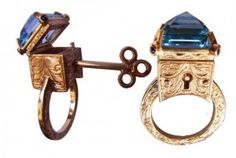 how awesome is this?!  a poison ring with a key :)