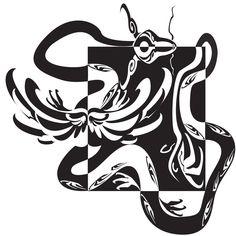Dragon Notan by OkamiNagihime on DeviantArt Notan Design, 2d Design, Notan Art, Negative Space Art, Ap Studio Art, Positive Art, Art Curriculum, Flash Art, Ap Art