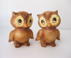 Vintage Owl Salt and Pepper Shakers by SwankyLadyVintage on Etsy, $12.95