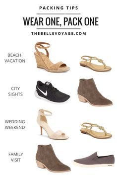 Packing shoes for travel. Packing shoes in a suitcase. Best Shoes For Travel, Travel Shoes Women, Carry On Packing, Packing Tips For Travel, Travel Hacks, Packing Ideas, Travel Gadgets, Travel Essentials For Women, Outfit Essentials