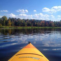 Kayaking adventure in Stevens Point, Wisconsin near Iverson Park.