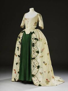 18th century gown with replacement under skirt.