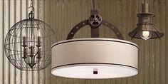 Themed lighting, mix it up to keep it frresh! Industrial, River House Decor, Light, Hanging Light Fixtures, Lighting, Light Fixtures, Industrial Hanging Lights, Design Inspiration, Ceiling Lights