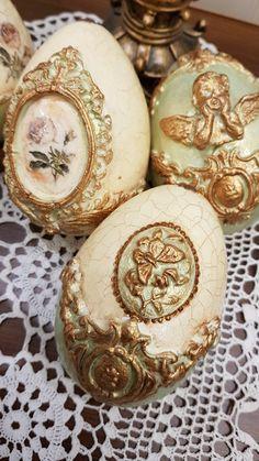 Easter Egg Crafts, Easter Projects, Easter Gift, Easter Eggs, Christmas Balls, Christmas Crafts, Christmas Ornaments, Egg Shell Art, Egg Art