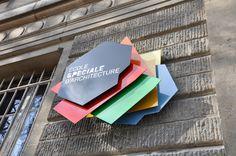 logo application. École spéciale d'architecture by Studio Plastac , via Behance