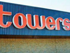 Towers - towers store sign Canada