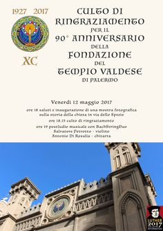 90 anni di Tempio Valdese a Palermo