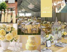 Wedding decor inspiration board using Pantone's Custard. Visit our blog @ originalopulence.com for more ideas & inspiration...your go to blog for all things unique and original.