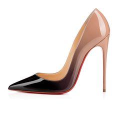 SO KATE PATENT DEGRADE, BLACK-NUDE, Patent, Women Shoes, Louboutin.