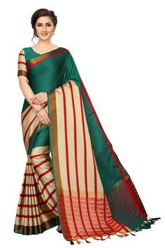 Description:- Partywear Casual Poly Cotton Silk Saree Saree Fabric:- Poly Cotton Silk Blouse Fabric:- Poly Cotton Silk Saree Length : - Meter And Meter Weight: 1 Kgs Each Occasion:- Causal and All Season Trendy Sarees, Fancy Sarees, Trendy Dresses, Wedding Sarees Online, Silk Sarees Online, Western Dresses Online, Saree Shopping, Cotton Silk, Green Cotton