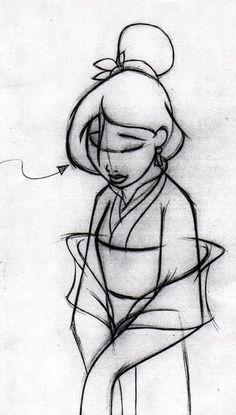 Mulan sketch art.