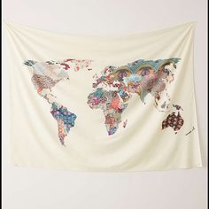 Urban Outfitters Map Tapestry Tapestry from urban outfitters, never used but out of the box. Bought a couple of months ago but never got to hanging it up. Very cute Urban Outfitters Other