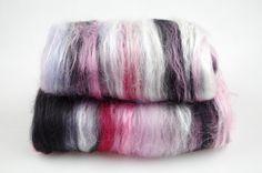 Wolle - Merino-Seiden-Vlies SCHNEEWITTCHEN - ein Designerstück von Backtothewheel bei DaWanda