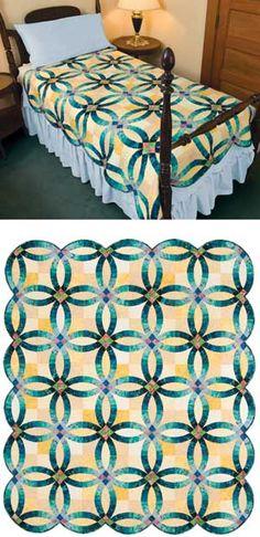 wedding ring quilt | Double Wedding Ring Quilt -- splendid ...