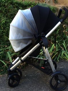 Adjustable stroller shade - Dressy Grey Floral | Grey Shades and Floral & Adjustable stroller shade - Dressy Grey Floral | Grey Shades and ...