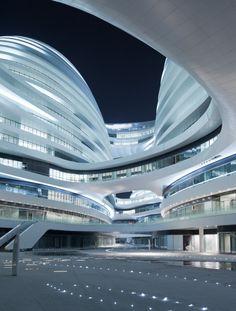 Zaha Hadid's Galaxy Soho complex in Beijing. Photo by Iwan Baan.