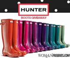Hunter Rain Boots Sweepstakes! I want one!!!