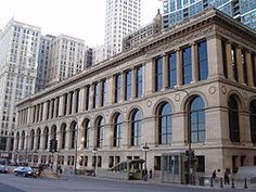 """old public library, Tiffany ceiling  now the """"Cultural Center"""""""