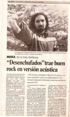 Feliciano Diario el Sur. Proyecto Desenchufados