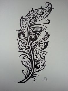 Feather by MissTarren.deviantart.com on @deviantART