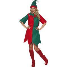 Costum adult de Craciun de dama, Elf