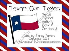 Texas Our Texas: A Texas Symbol Activity Book and Craftivity product from Saddle-Up-For-2nd-Grade on TeachersNotebook.com