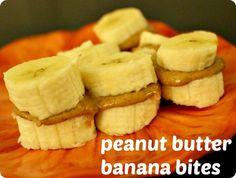 my favorite #healthy snack - Peanut Butter Banana Bites!