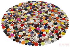 Carpet Circle Multi Ø150cm by KARE Design #colors #multicolored #carpet #circle #KARE #KAREDesign