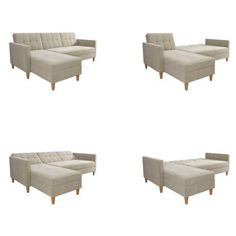 Hephzibah Reversible Sleeper Sectional & Reviews | Birch Lane Modular Sectional Sofa, Sleeper Sectional, Reclining Sectional, Modern Sectional, Chaise Sofa, Living Room Sets, Living Room Furniture, Small Space Living, Living Spaces