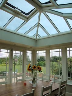 Timber roof lantern with Bifold doors from Country Hardwood