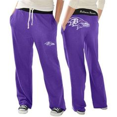 Baltimore Ravens Ladies Recruit Fleece Pants - Purple Absolutely want and need