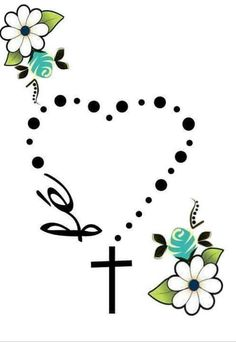 Terço...fé...flores