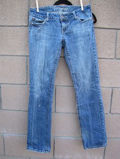 American Eagle 77 Straight 8 Regular Blue Jeans Distressed Stretch #AmericanEagleOutfitters #Straight77