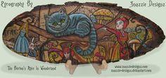 DeviantArt: More Like Mucha Pyrograph (Woodburning) - Coloured In by snazzie-designz Chalk Art, Pyrography, Wood Burning, Art Google, Handmade Crafts, Alice In Wonderland, Deviantart, Illustration, Artwork