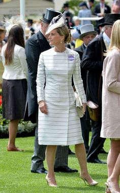 Let's talk about some of the best recent looks from Sophie, Countess of Wessex (aunt to Prince William) - we loved her striped Emilia Wickstead dress, worn to this year's Royal Ascot