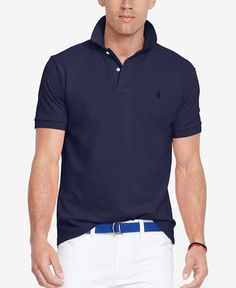 Polo Ralph Lauren Classic-Fit Mesh Polo Shirt Men - Polos - Macy s 8f0f0da6b94