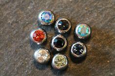 Piercingkugeln aus Chirurgenstahl für 1,6 mm Stäbe mit Stein