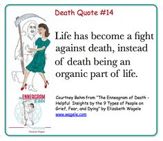 "Death Quote #14 from ""The Enneagram of Death"" by Elizabeth Wagele"