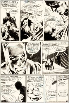 art by Neal Adams and Dick Giordano -Batman #234 Page 6 Original Art (DC, 1971)