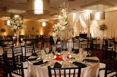 Northbrook Ballroom with upgraded Chiavari Chairs, Linens, and Drapery, Via @Renaissance Chicago North Shore Hotel