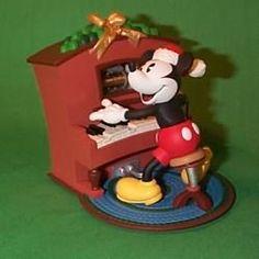 1999 Disney - Piano Player Mickey Hallmark Ornament   The Ornament Shop