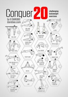 Conquer 20: Challenging Bodyweight Exercises