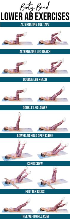 Lower Ab Booty Band Exercises   Mini Band Lower Ab Workout