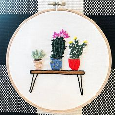 Plant lady vibes. • • • • #embroidery #handembroidery #embroideryhoopart #handmade #modernmaker #hoopart #makersmovement #psimadethis #abmcrafty #makersgonnamake #modernembroidery #fiberart #dmcthreads #embroideryinstaguild #huffpostarts #abmplantlady