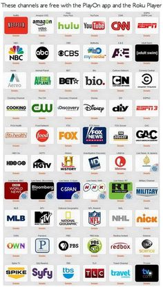 These Channels Are All Free If You Have Playon - Roku Streamin - TVStreamin
