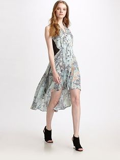 Perfect segue dress from Coachella to  real world... Dress by Rebecca Minkoff #SaksLLTrip.