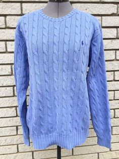 VTG Polo Ralph Lauren Periwinkle Purple Cable Knit Sweater Large | Clothing, Shoes & Accessories, Men's Clothing, Sweaters | eBay!